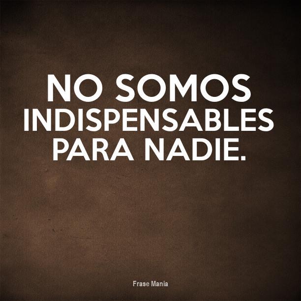 Cartel Para No Somos Indispensables Para Nadie