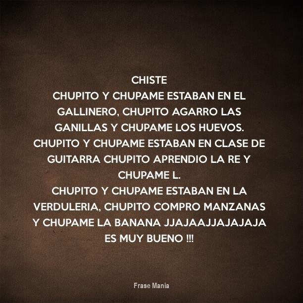 Cartel Para Chiste Chupito Y Chupame Estaban En El Gallinero