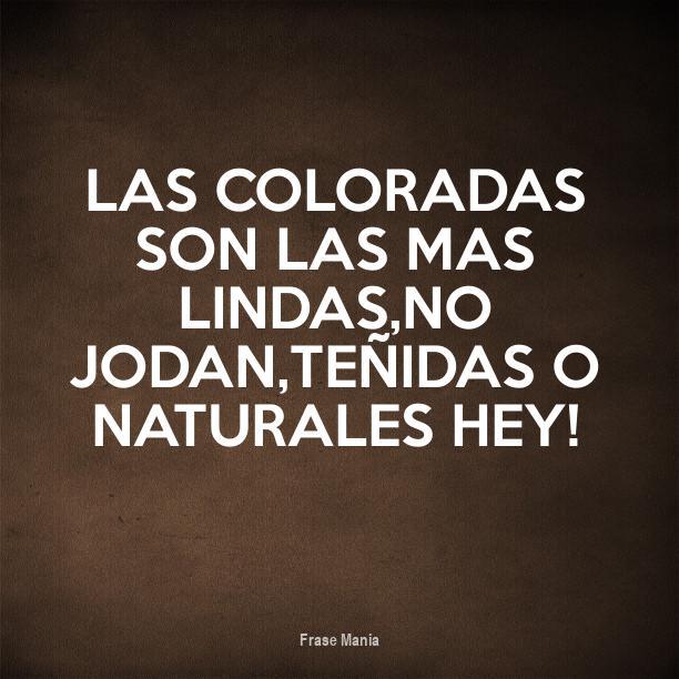 Cartel Para Las Coloradas Son Las Mas Lindasno Jodan