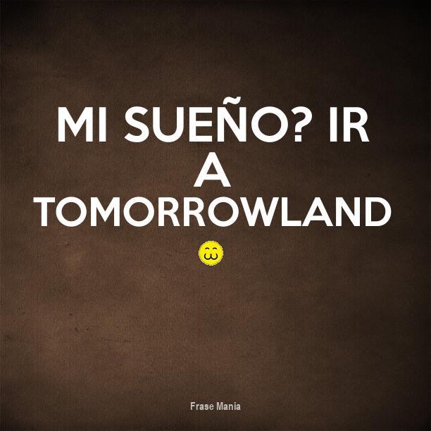 Cartel Para Mi Sueño Ir A Tomorrowland 3
