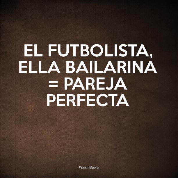 Top Cartel para: El futbolista, Ella bailarina = Pareja perfecta FO27