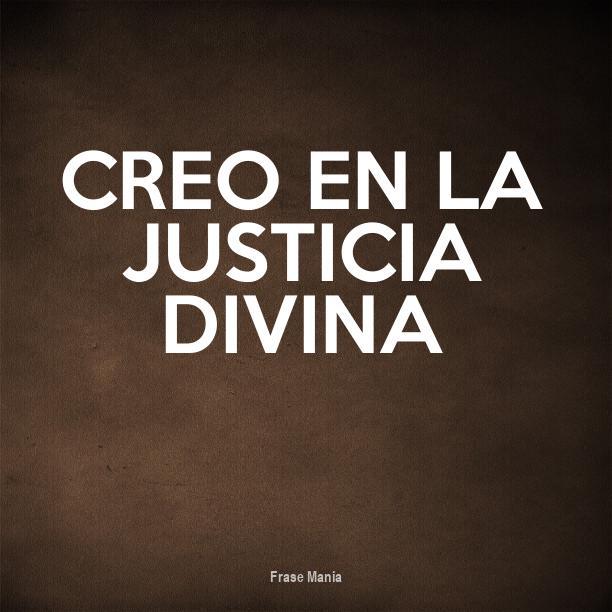 Cartel Para Creo En La Justicia Divina
