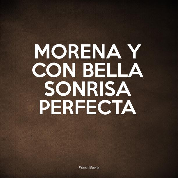 Cartel Para Morena Y Con Bella Sonrisa Perfecta